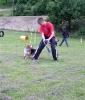 Spiel mit dem Hundeführer